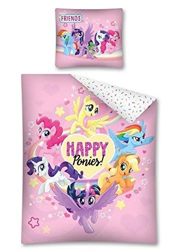 DP My Little Pony Happy Bettwäsche, Wendebettwäsche Größe: 140 x 200 cm, 70 x 80 cm Mehrfarbig 100% Baumwolle