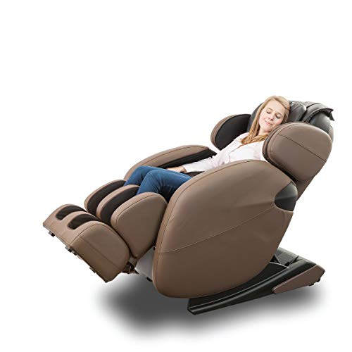 Space-Saving Zero-Gravity Full-Body Kahuna Massage Chair Recliner LM6800 with yoga & heating therapy (Brown)
