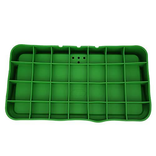 WLH Caja De Almacenamiento De Caja De Servicio De Silicona De Goma De Golf Contenedor De Bandeja De Bolas Suministros De Golf Almacenamiento Verde