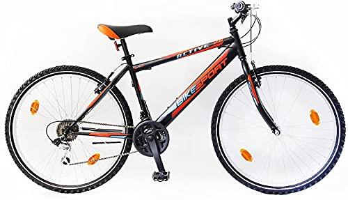 Bikesport Active Bicicletta Mountain Bike 26' Altezza Telaio: 48 cm, Shimano 18 cambios (Blu Verde, XL)