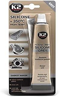 K2 Bond hoge temperatuur siliconen, tot 350 graden, grijs, 85 g