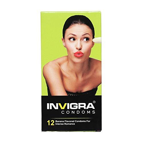 Invigra Banana Dotted Condoms