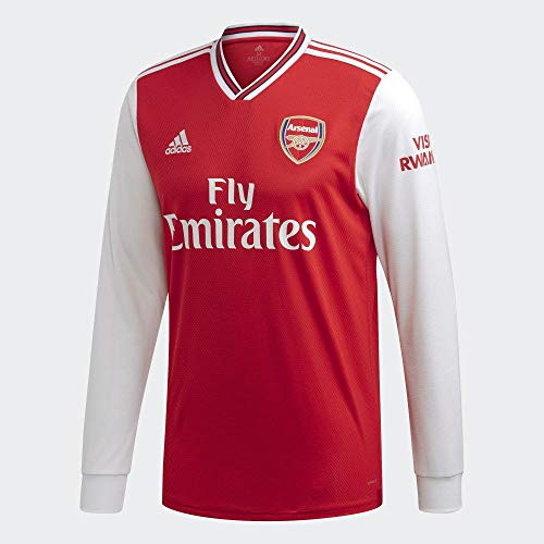 adidas 2019-2020 Arsenal Home Long Sleeve Football Soccer T-Shirt Jersey