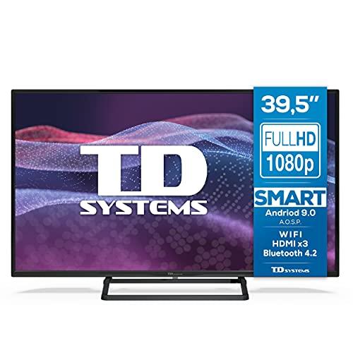TD Systems K40DLX11HS - Smart TV 39,5 Pouces Android 9.0 et HBBTV, 1100 PCI Hz, 3X HDMI, 2X USB. DVB-T2/C/S2, Mode Hôtel. Téléviseurs