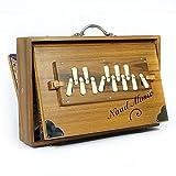 Shrutibox NAAD MUSIC XL Professional - Original de calcutta, probado y comprobado, sonido extralargo, C-C 13 Stops, 440 Hz, incluye madera de teca, envío directo desde Alemania