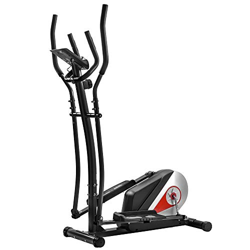 Danxee Elliptical Trainer Magnetic Elliptical Machines for Home Use Elliptical Machine Fitness Workout Cardio Training Machine Portable Elliptical Trainer with Pulse Rate and LCD Monitor
