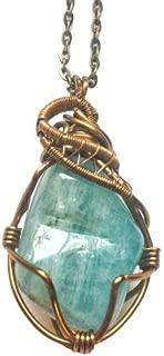 antique aquamarine pendant necklace