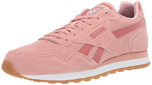 Reebok Women's Classic Harman Run Sneaker, Chalk Pink/Baked Clay/sea/White/Gum, 8.5 M US