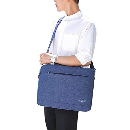 Rabusion 15.6inch Unisex Laptop Briefcase Handbag Business Shoulder Bag for MacBook Ultrabook blue 15 inches