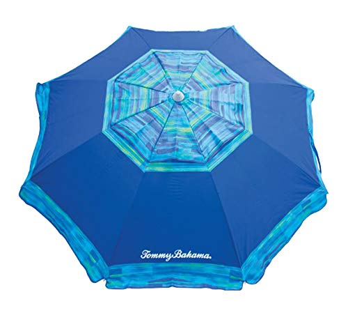 Tommy Bahama 7' Beach Umbrella 2018 Collection - Choose Your Color (Blue) (Original Version)