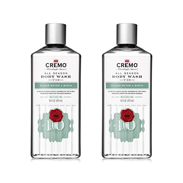 Cremo Rich-Lathering Silver Water & Birch Body Wash, A Revitalizing Combination of Glacier-Fed Streams and White Birch… 1