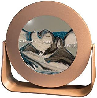 Exotic Sands Rd64 Small Round Silver Frame (Arctic Glacier) Sea Sand Picture. Made in the USA. Sand Scapes, Sand Box, Sifting Sands.