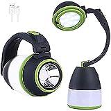 VABOO Linterna de Camping, 4 en 1 Lámpara Camping LED USB Recargable Portátil Farol de Camping, 3500 LM Impermeable Luz de Emergencia para Pesca, Emergencia, Senderismo, Trekking