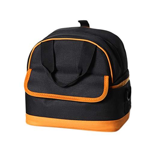Kitrack Isolation Sac à Lunch Portable Frais De Maintien Au RéFrigéRateur Double Couche pour Le Camping,Black
