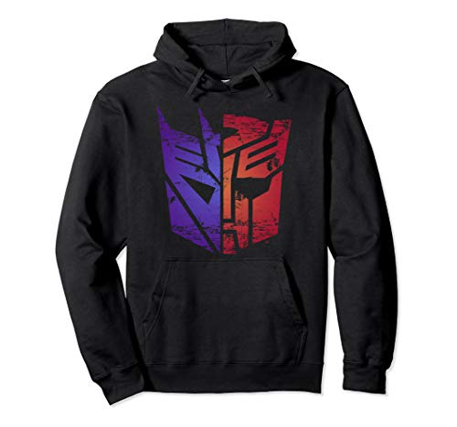 Transformers Decepticon Autobot Split Logo Pullover Hoodie