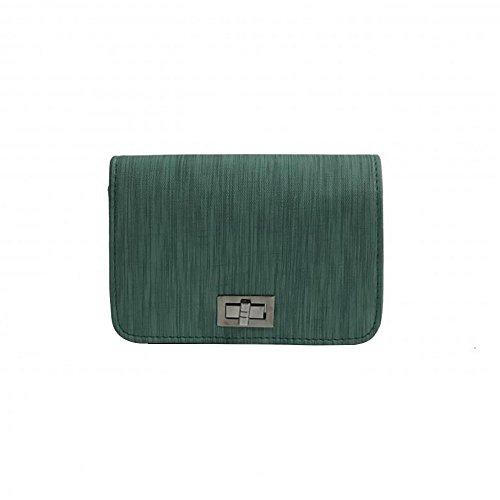 FossenMA Bolsos Bandolera Mujer PU Retro Baratos - Moda Bolso de Mujer de Color Sólido Simple Marca Bolsas Crossbody para Compras, oficina,Vestido a Juego Verde