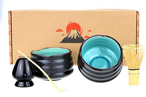 Urban Lifestyle Matcha Set Uji Doppelpack mit 2 Schalen (Blau)