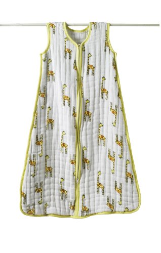 aden + anais - 1018 - Gigoteuse Cozy en Mousseline - Giraffe - Jaune / Blanc - Small