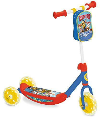 Patinete de 3 ruedas de Paw Patrol | Patinete estable con bolsa de manillar para niños a partir de 3 años
