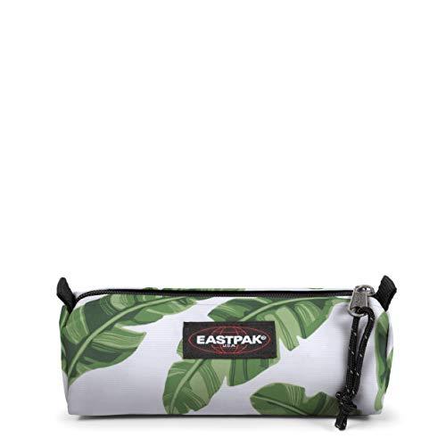 Eastpak Benchmark Single Astuccio, 21 cm, Bianco (Brize Leaves Natural)