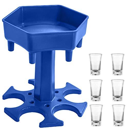 AIEOE 6 vasos de chupito y 1 distribuidor de bebidas para fiestas,...