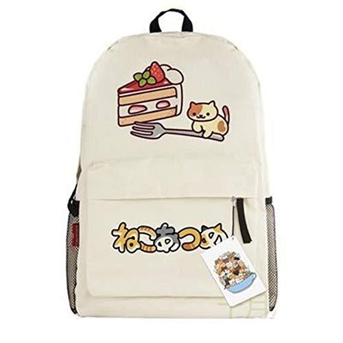 siawasey Neko atsume Anime Katze Backyard Cosplay Schultasche Daypack College Rucksack Schultasche