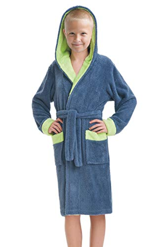 LEVERIE schattige kinderbadjas voor jongens en meisjes, maat 86-158), Made in EU