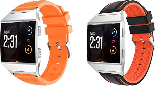 Simpleas Correa de Reloj Reemplazo Compatible con Fitbit Ionic, la Correa de Reloj Watch Band Accessorios (2PCS E)