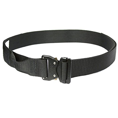 """Fusion Tactical Military Police Riggers Belt Black Small 28-33""""/1.5"""" Wide"""