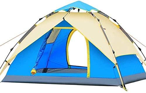 YAYY Dome Tent voor Camping Automatische Camping Pop-up Tent voor 3-4 persoon Versie Hydraulische Tent Dubbele Laag Waterdichte Dome Tent met Draagtas (Upgrade)