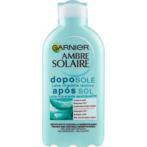 Garnier Ambre Solaire Crema Doposole Aloe Vera, Latte Idratante Lenitivo, 200ml
