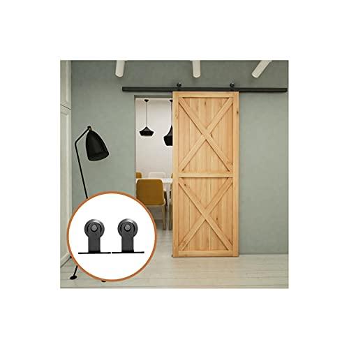6.6FT/200cm Herrajes para Puertas Correderas Juego de Rieles para Puertas de Granero Kit de Puerta Corredera para Puerta Simple Forma de T