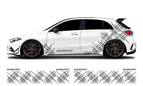 WRAP SKIN Camouflage Seitenstreifen Aufkleber Auto Tuning Komplettset 2-farbig WS-01-00-10007
