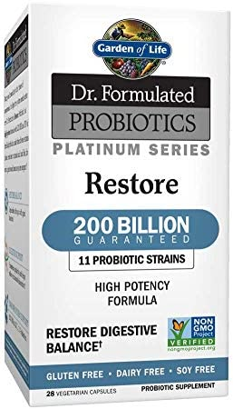 Garden of Life Dr Formulated Probiotics Platinum Series Restore 200 Billion CFU Guaranteed High product image