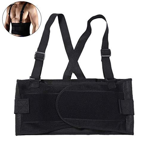 zhppac Cinturon Lastre Cinturon Gym Cinturón de Gimnasio para Hombre Levantamiento de Pesas Accesorios de Gimnasio para Hombres Black,l