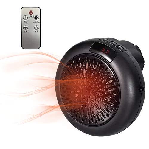Portátil Calefactor Eléctrico, Domybest Mini Calentador Eléctrico Portáti 900w con Mando a Distancia Ventilador Calefactor Eléctrico Cerámica Calefactor Aire Caliente para Hogar y Oficina (Black)
