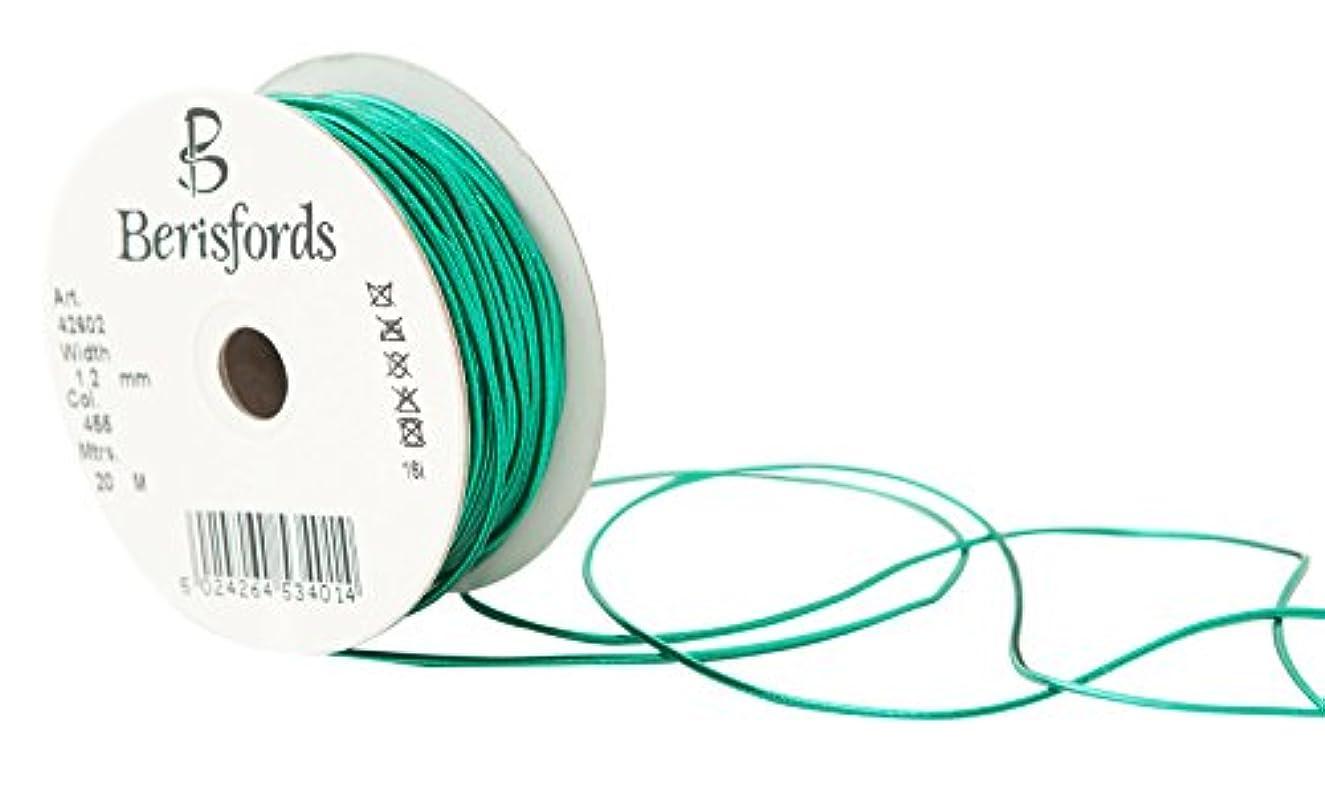 Berisfords R426021.2/455 | Hunter Green Metallic Round Elastic | 1.2mm