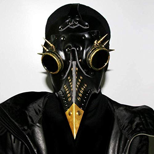 WWKA Punk Maske Halloween Pest-Doktor Pest Steampunk Lange Nase Bird Beak Maske Einstellbarer Haltebügel for Erwachsene Partei Karneval PinBaiYa Maske LLAN