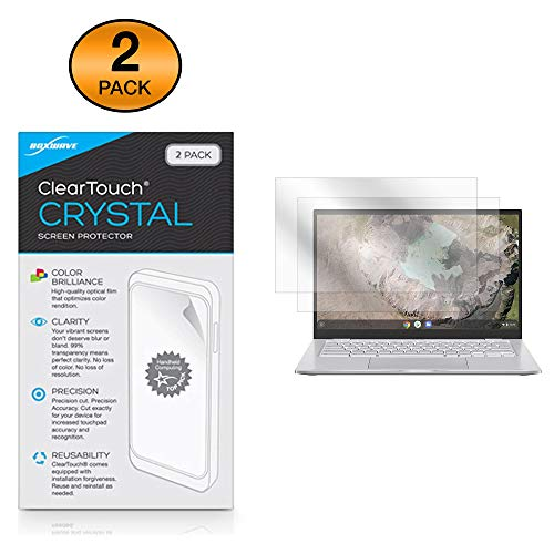 Find Bargain ASUS Chromebook C425 Screen Protector, BoxWave [ClearTouch Crystal (2-Pack)] HD Film Sk...