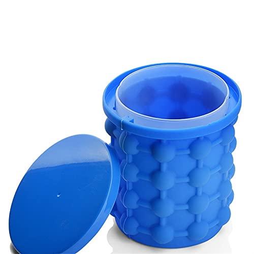 Cubo de hielo de silicona, cubo de hielo de silicona grande y pequeño, fábrica de hielo redonda, portátil, utilizado para congelación de whisky, cócteles, bebidas, adecuado para varias ocasiones