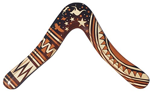 Aussie Fever Holz-Bomerang – dekoriert australische Boomerangs, hergestellt in Australien