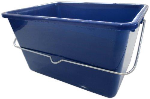 Farbeimer 3 Stück blau 12 Liter schräge Abstreiffläche Eimer Farbwanne Malereimer Profi-Qualität