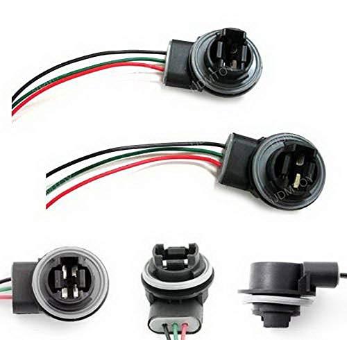 iJDMTOY AA1018 Par 3156 3157 Adaptador Hembra Cable Arnés de Cableado Compatible con ambas Bombillas…