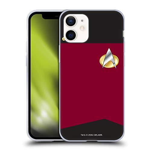 Official Star Trek Captain Uniforms And Badges TNG Soft Gel Case Compatible for Apple iPhone 12 Mini
