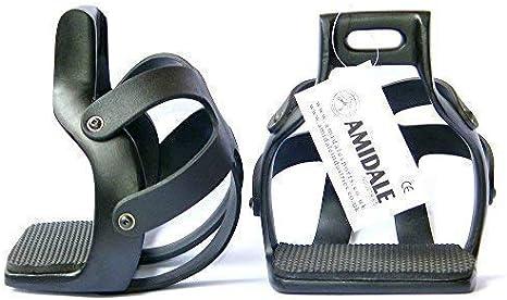 Amidale ALUMINIUM ENDURANCE FLEX RIDE CAGED SAFETY HORSE STIRRUPS 4.75, PINK