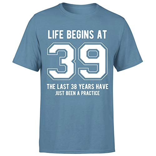 Life Begins at 39 Years Birthday Gift for Him - Camiseta de regalo para hombre