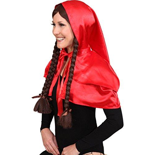 Petite cape rouge avec capuche