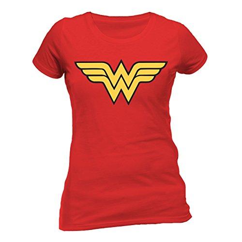 Wonder Women Logo Fitted Damen T-Shirt Offizielles Lizenzprodukt|S|Test