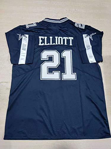 ZPEN Embroidered#21_ElliottFansSportsTeamFootballJersey- Youth XLNavy
