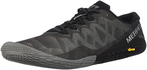 Merrell Men's Vapor Glove 3 Sneaker, Black/Silver, 10 M US